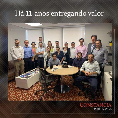 Constância completa 11 anos no mercado financeiro brasileiro
